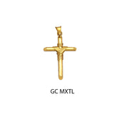 14K yellow gold braided design cross pendant