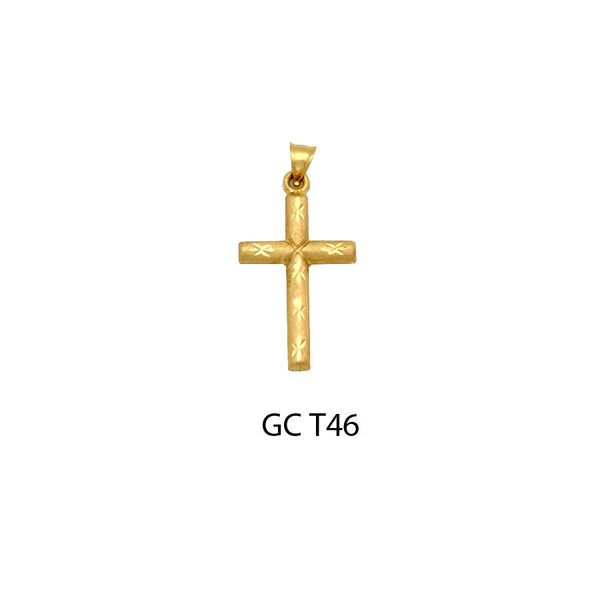 gold designed cross pendant