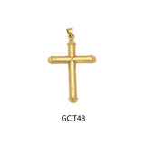 14K gold designed cross pendant