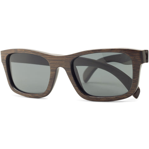 Crest | Dark Bamboo Sunglasses