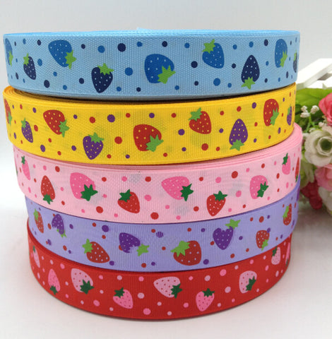 "10 Yards Strawberry Grosgrain Ribbon (1"" Width)"