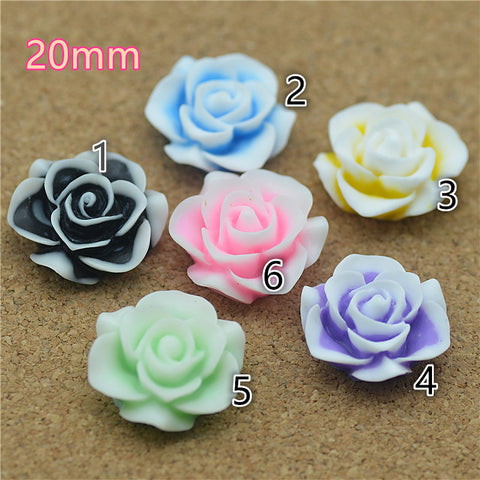 20Pcs Resin Flowers (Choose Your Color)