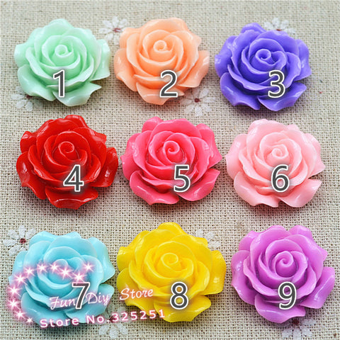 10Pcs Gloss Resin Flowers (Choose Color)