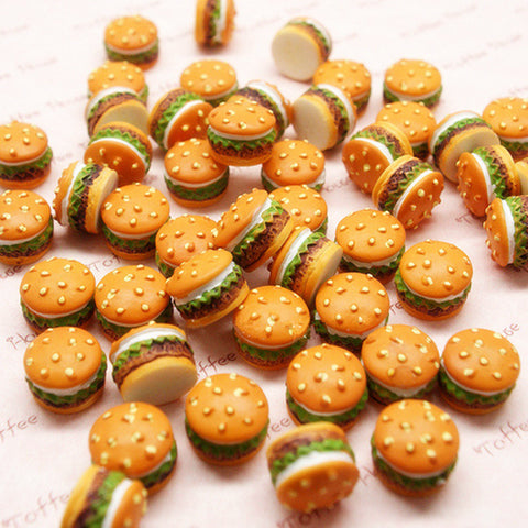 20Pcs Mini Resin Hamburgers