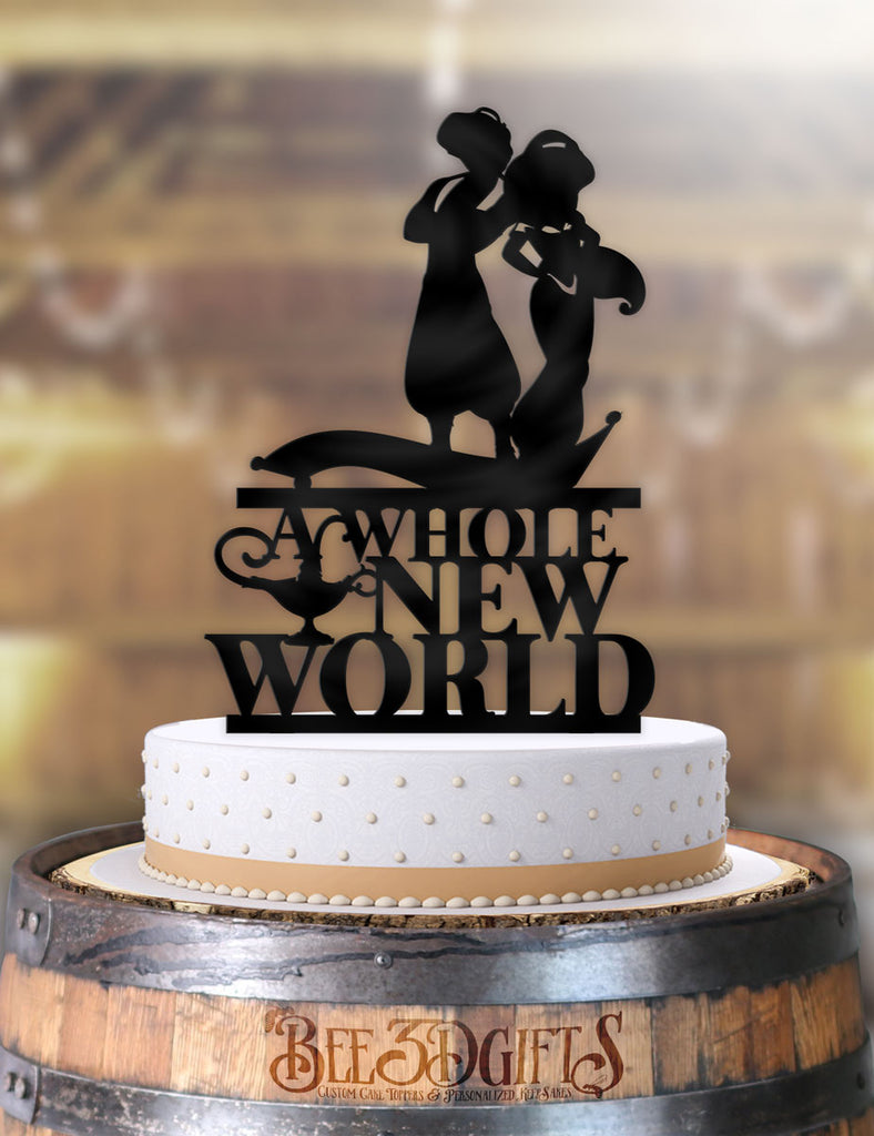 Aladdin and Jasmine A Whole New World Cake Topper - Bee3dgifts