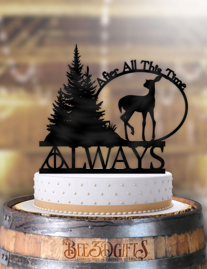 Harry Potter Always After All This Time Deer Cake Topper - Bee3dgifts
