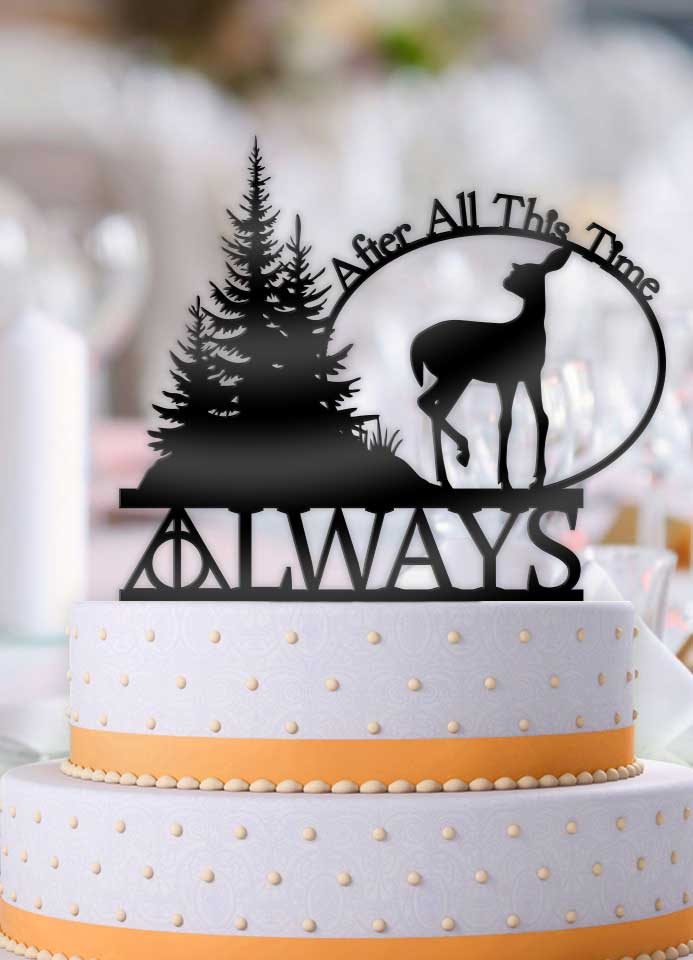 Harry Potter Always After All This Time Deer Wedding Cake Topper - Bee3dgifts