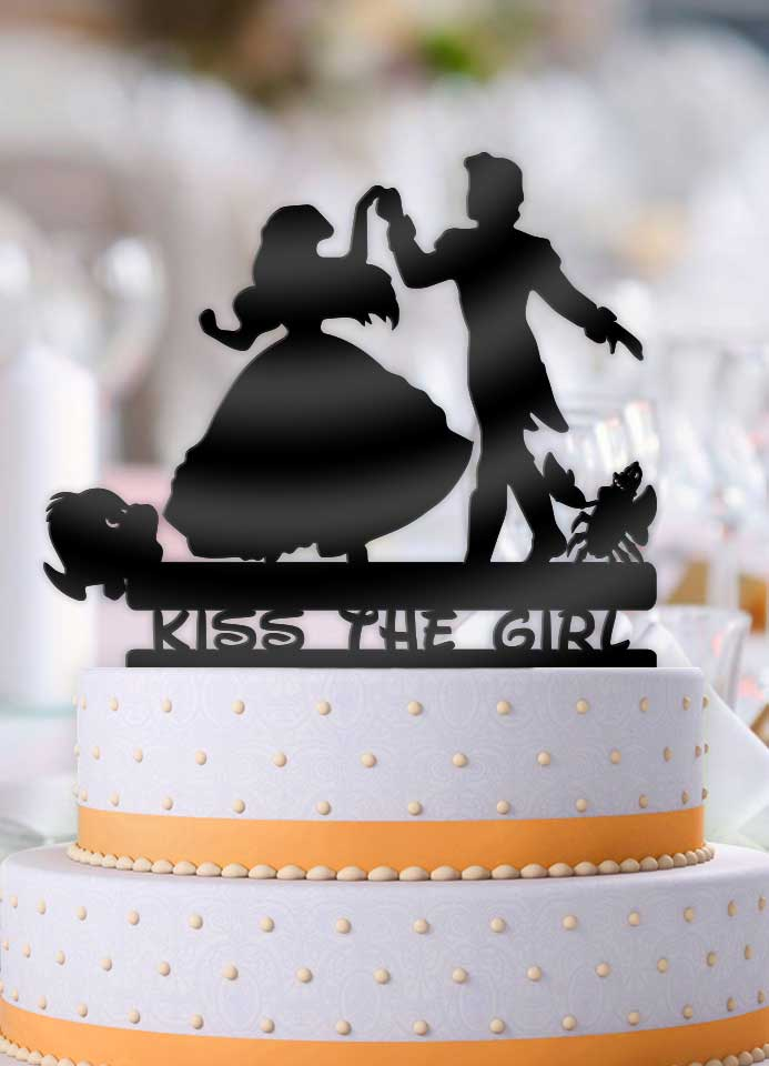 Ariel and Eric Dance Kiss the Girl Wedding Cake Topper - Bee3dgifts