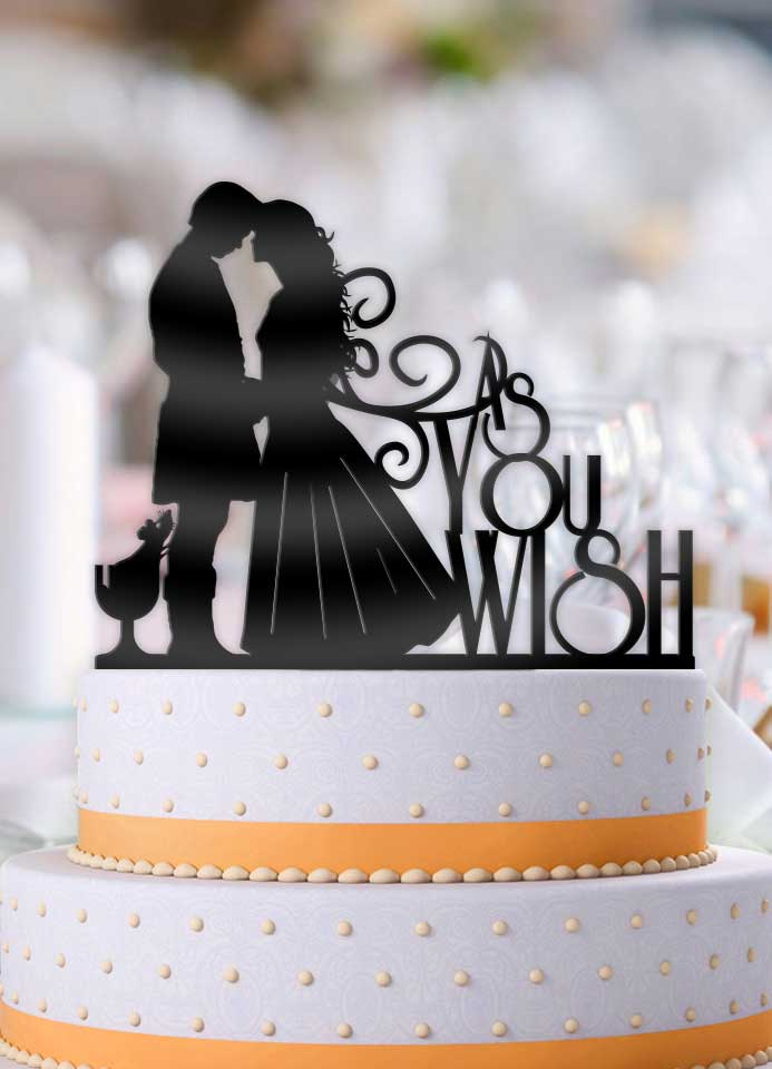 Princess Bride As You Wish with Mouse Wedding Cake Topper - Bee3dgifts