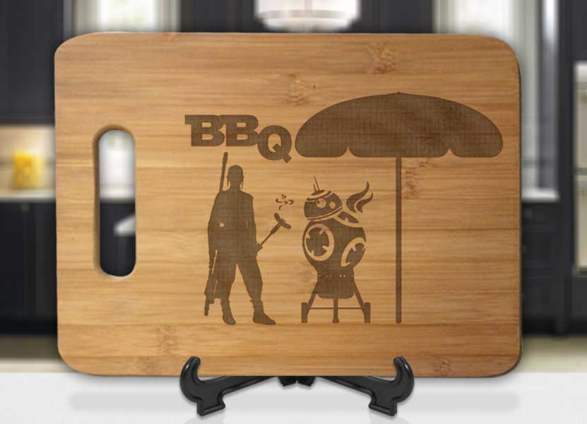 Star Wars The BB8 BBQ Engraved Cutting Board - Bee3dgifts