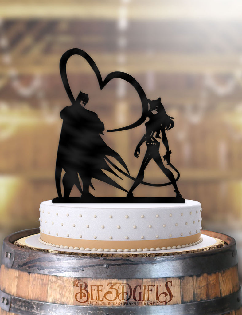 Batman and Cat Woman Whips of Love Cake Topper - Bee3dgifts