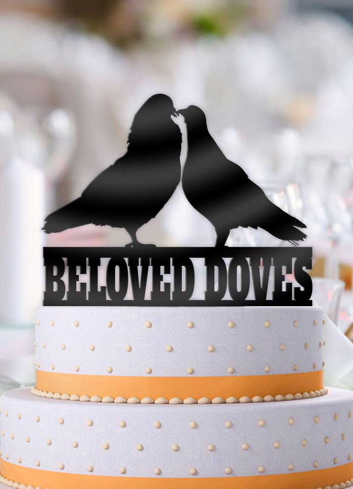 Beloved Doves Cake Topper - Bee3dgifts