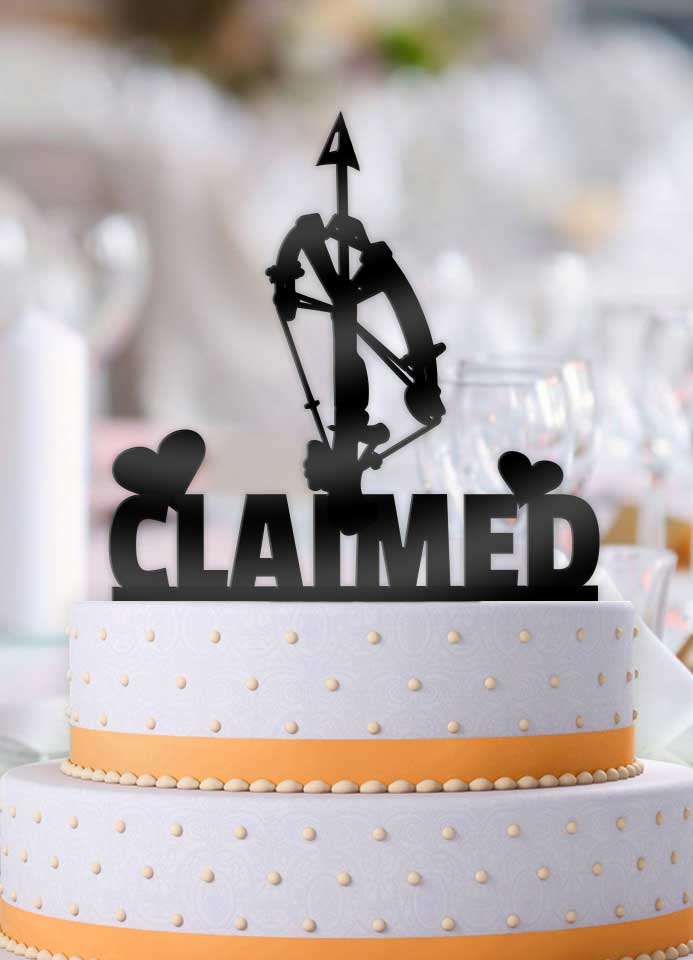 Crossbow Claimed Wedding Cake Topper - Bee3dgifts