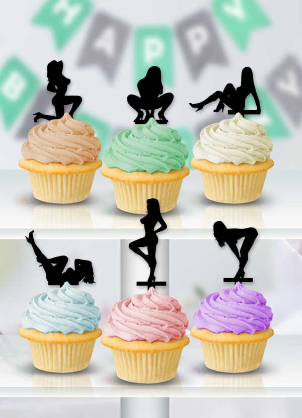 Club Girls Cupcake Toppers - Bee3dgifts