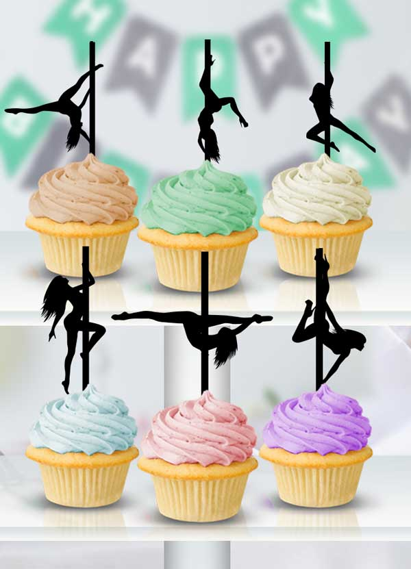 Pole Dancer Cupcake Toppers - Bee3dgifts