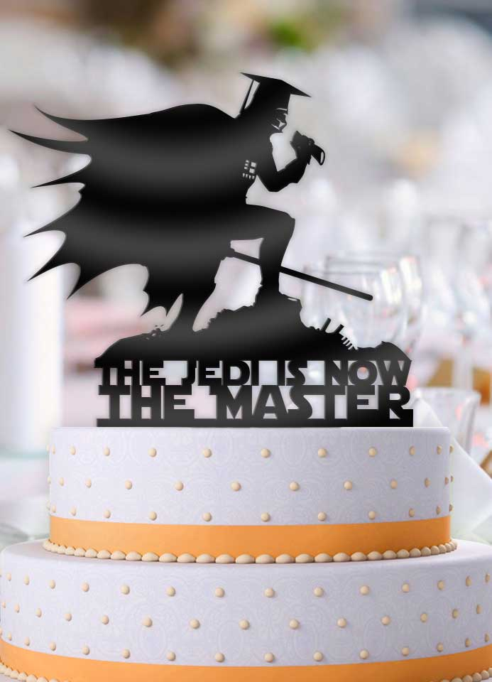Darth Vader The Jedi is now The Master Graduation Cake Topper - Bee3dgifts