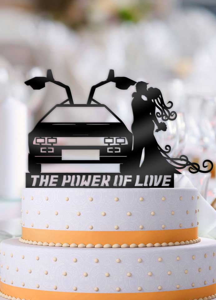 Delorean The Power Of Love Couple Wedding Cake Topper - Bee3dgifts