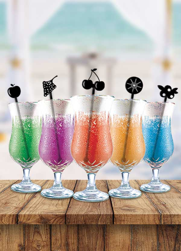 Fruit Cocktail Party Drink Stirrers - Bee3dgifts