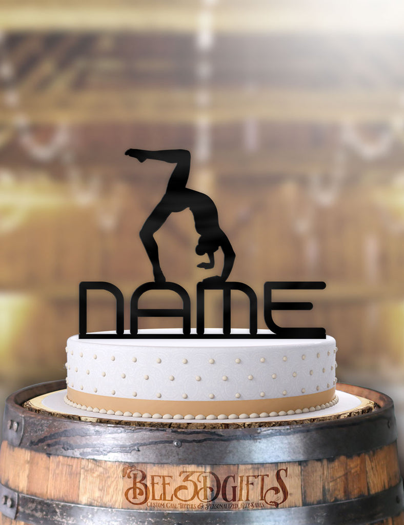 Personalized Female Gymnast Birthday Cake Topper - Bee3dgifts
