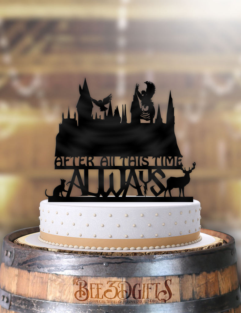 Harry Potter Hogwarts Castle After All This Time Always Scene Cake Topper - Bee3dgifts