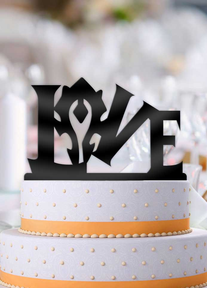 Horde Love Wedding Cake Topper