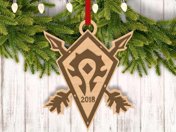 Personalized For The Horde With Year Engraved Holiday Christmas Ornament - Bee3dgifts