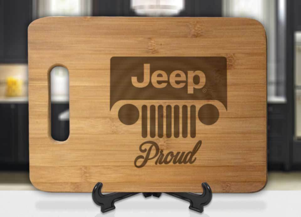 Jeep Proud Engraved Cutting Board - Bee3dgifts