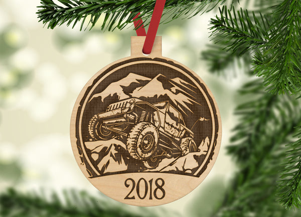 Personalized Jeep With Year Engraved Holiday Christmas Ornament - Bee3dgifts