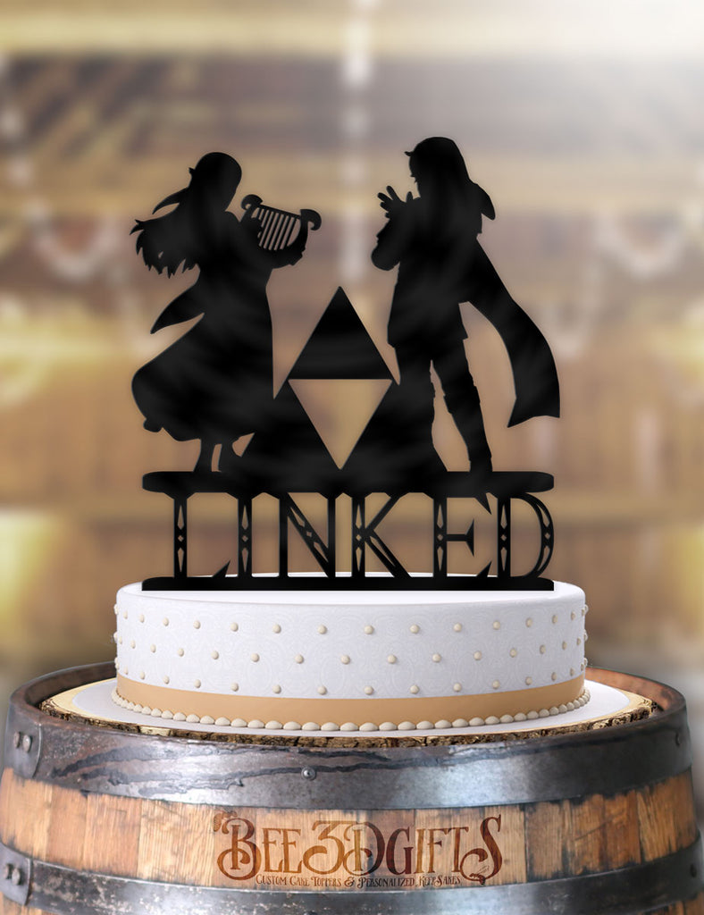Musical Link and Zelda Linked Cake Topper - Bee3dgifts