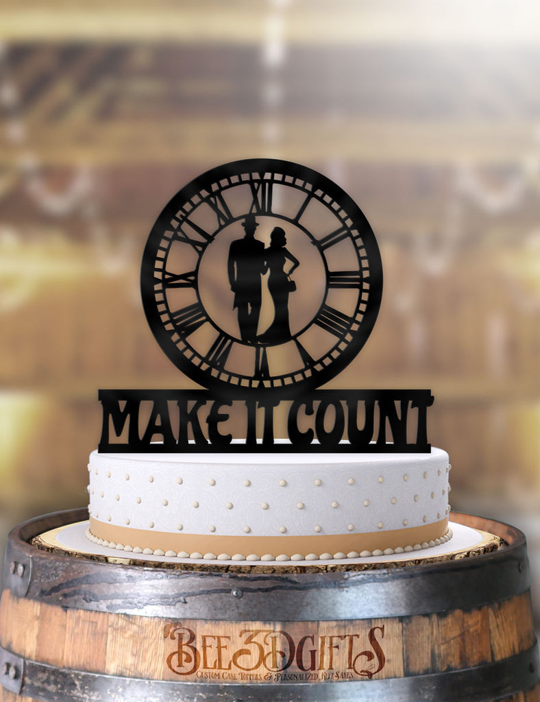 Make it Count Classy Couple Cake Topper - Bee3dgifts