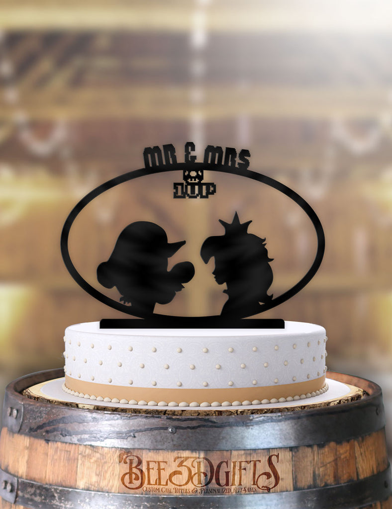 Mario and Peach 1 Up Cake Topper - Bee3dgifts