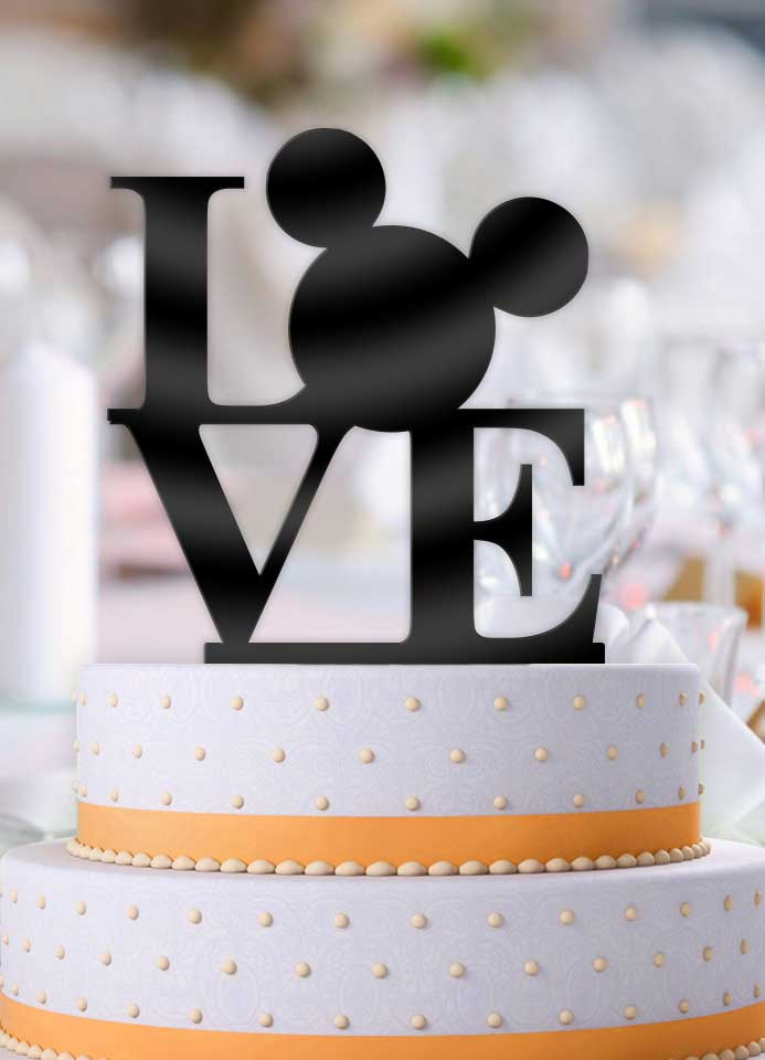 Disney Love Mouse Wedding Cake Topper - Bee3dgifts