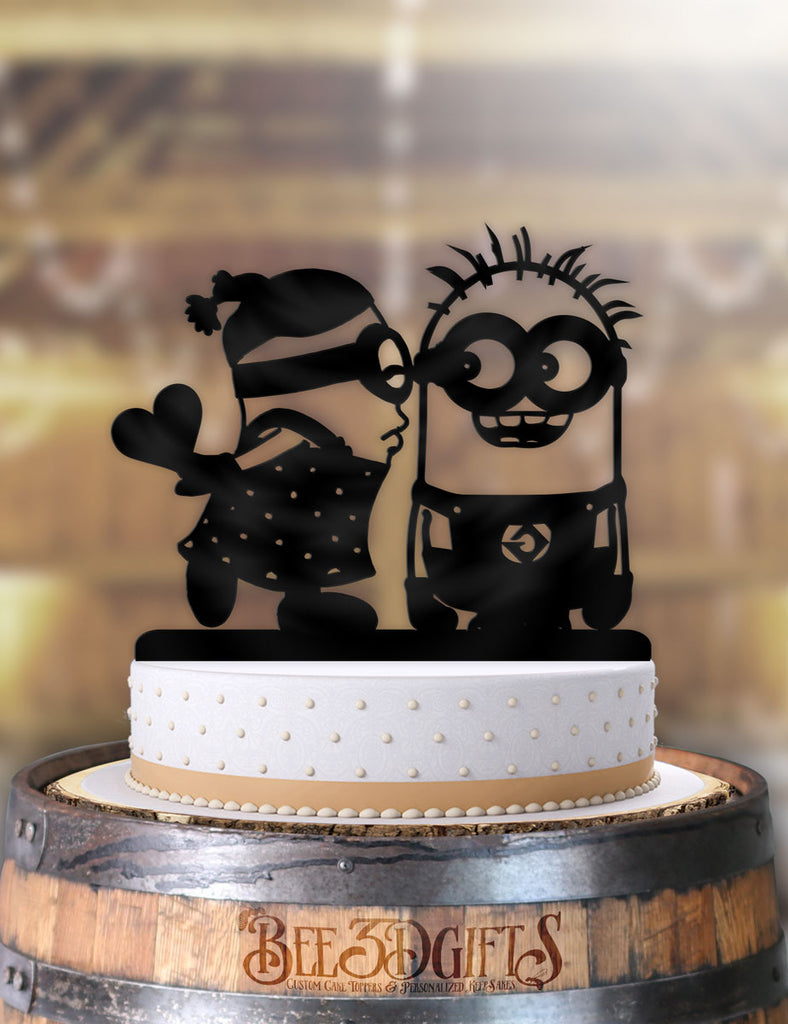 Minions Kiss Cake Topper - Bee3dgifts