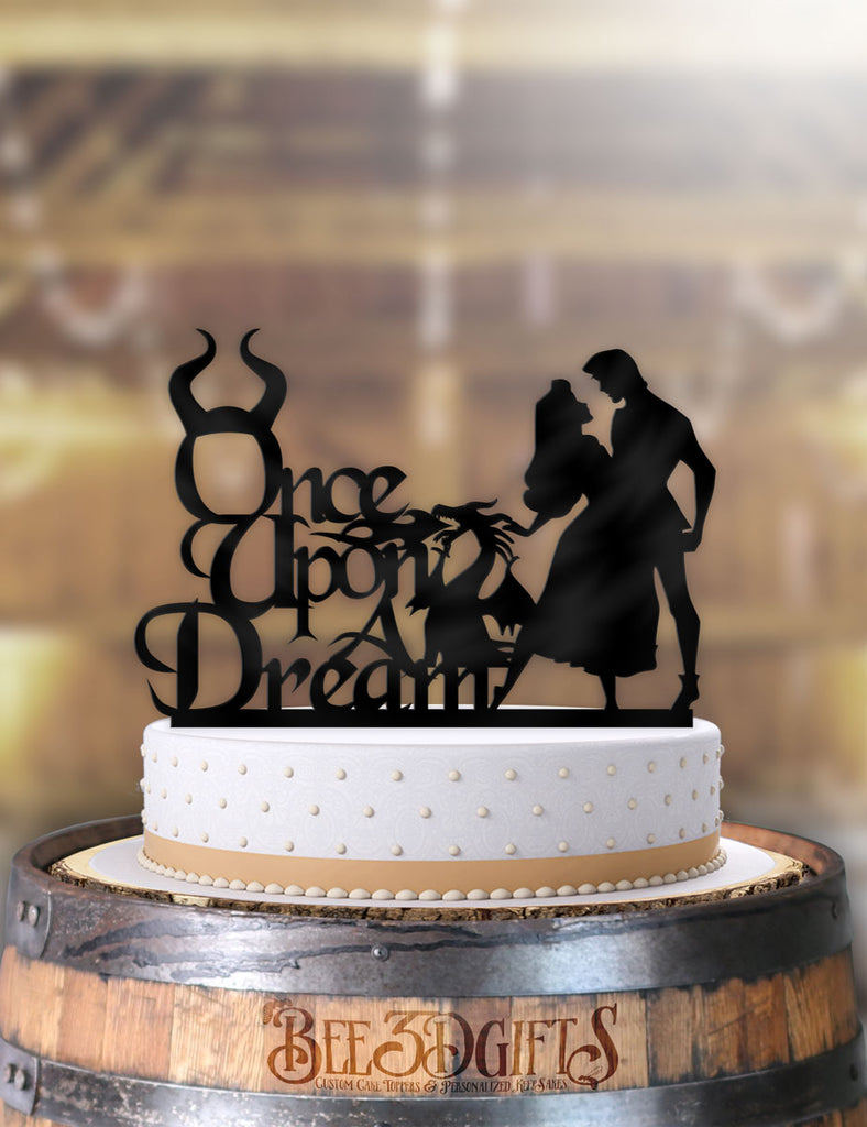 Aurora and Prince Once Upon A Dream Cake Topper - Bee3dgifts