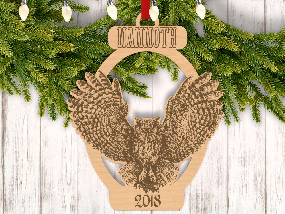 Personalized Christmas Owl with Location and Year Engraved Holiday Christmas Ornament - Bee3dgifts