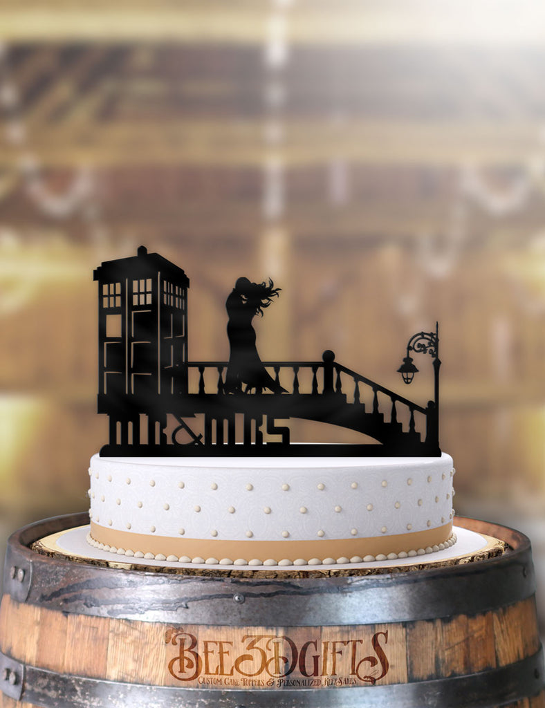 A Very Windy Tardis Day Cake Topper - Bee3dgifts