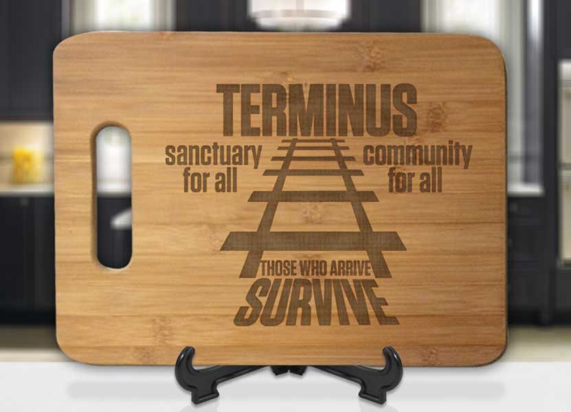 Terminus Sanctuary For All Community For All Those Who Arrive Survive Engraved Cutting Board - Bee3dgifts