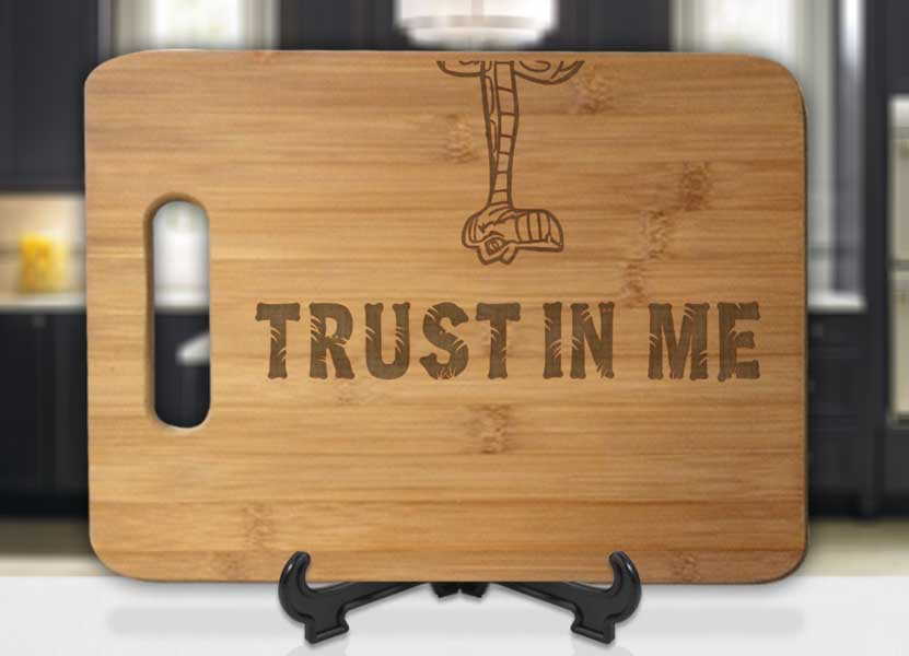 Trust In Me Jungle Book Engraved Cutting Board - Bee3dgifts