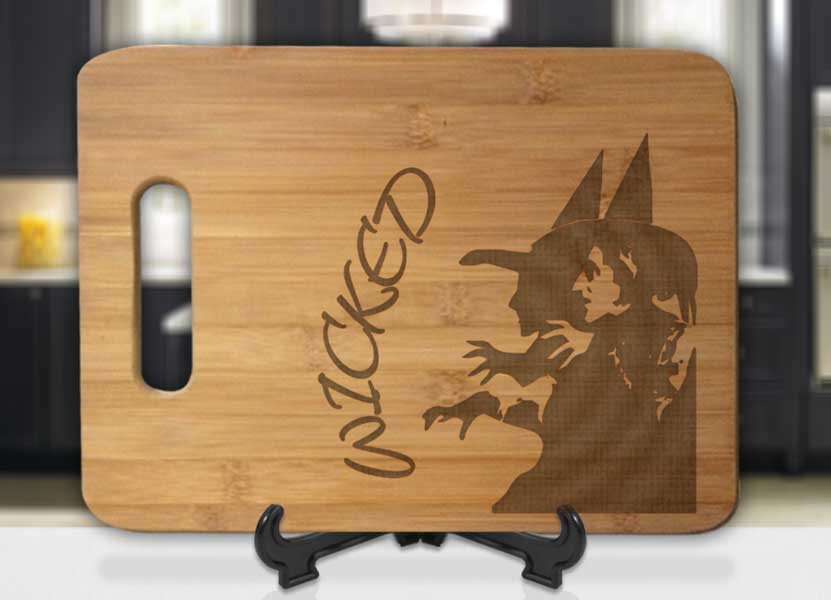 Wicked Witch Wicked! Engraved Cutting Board - Bee3dgifts
