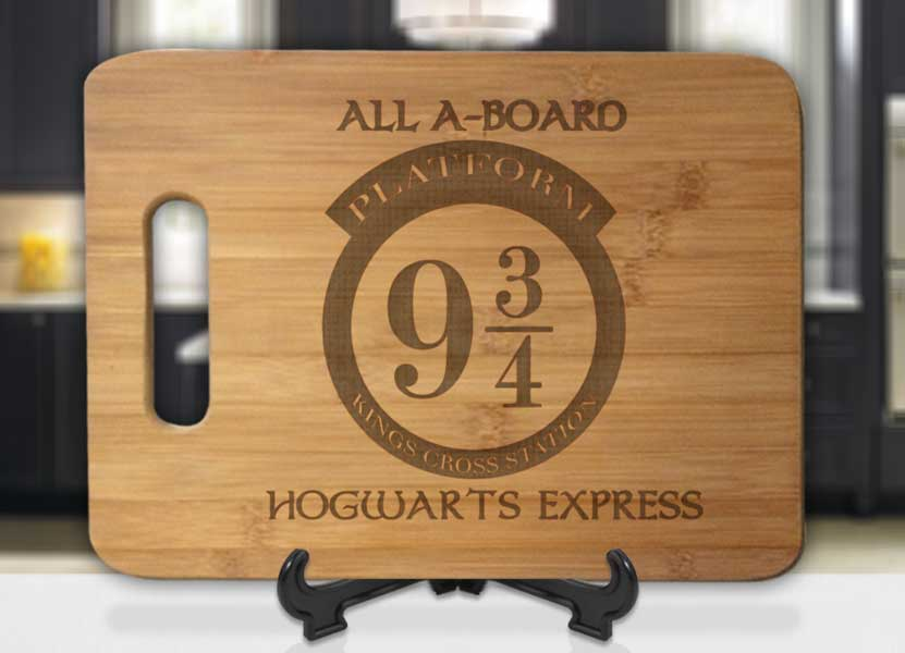 Harry Potter All A-Board Platform 9 3/4 Hogwarts Express Engraved Cutting Board - Bee3dgifts