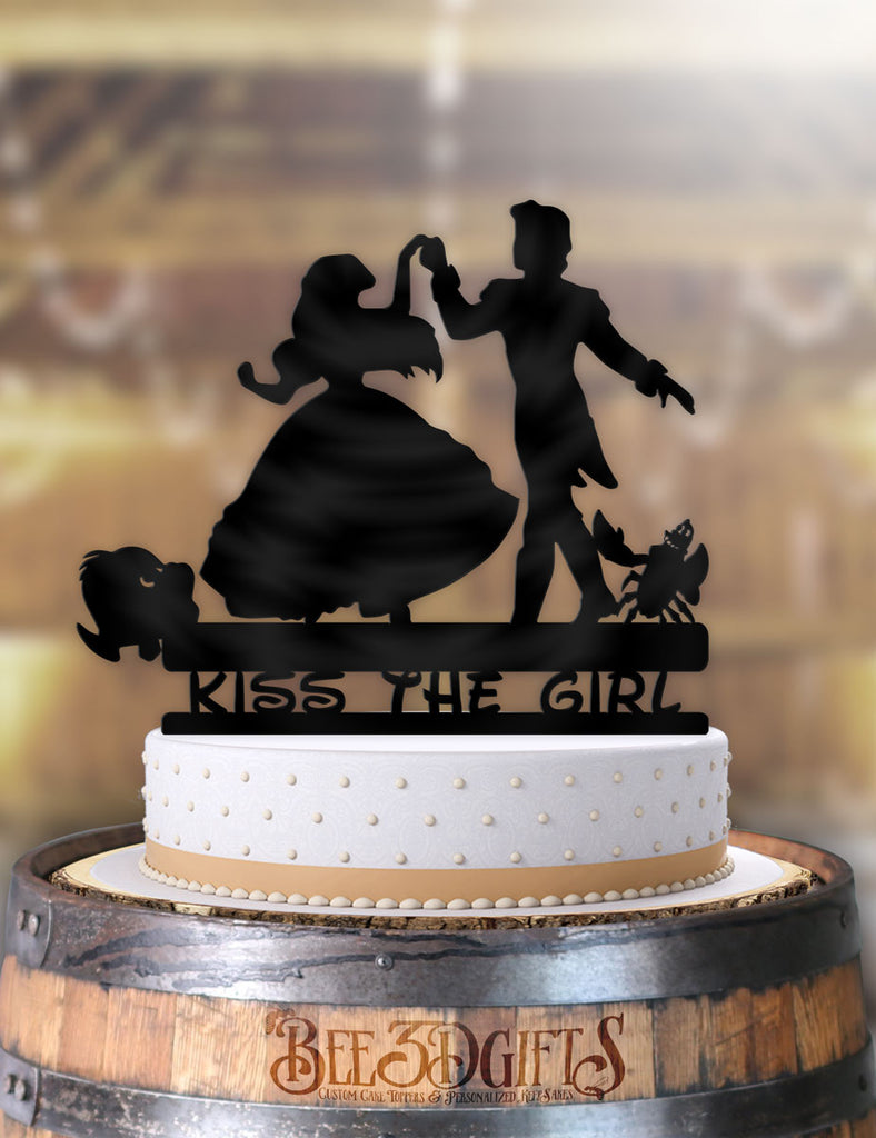 Ariel and Eric Dance Kiss the Girl Cake Topper - Bee3dgifts