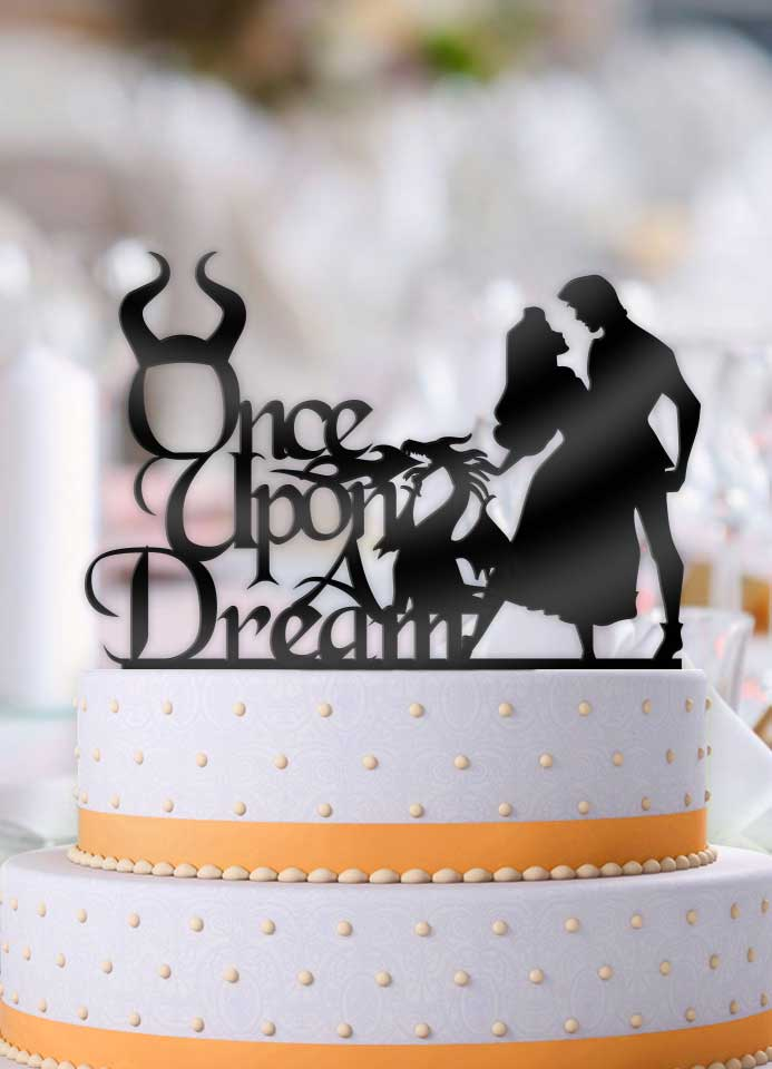 Aurora and Prince Once Upon A Dream Wedding Cake Topper - Bee3dgifts
