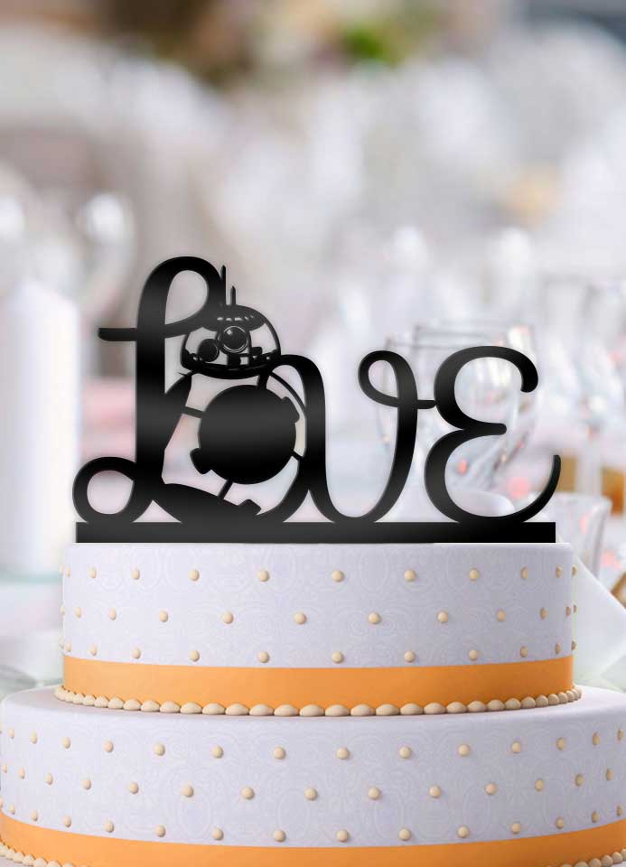 Star Wars BB-8 Love Cake Topper - Bee3dgifts