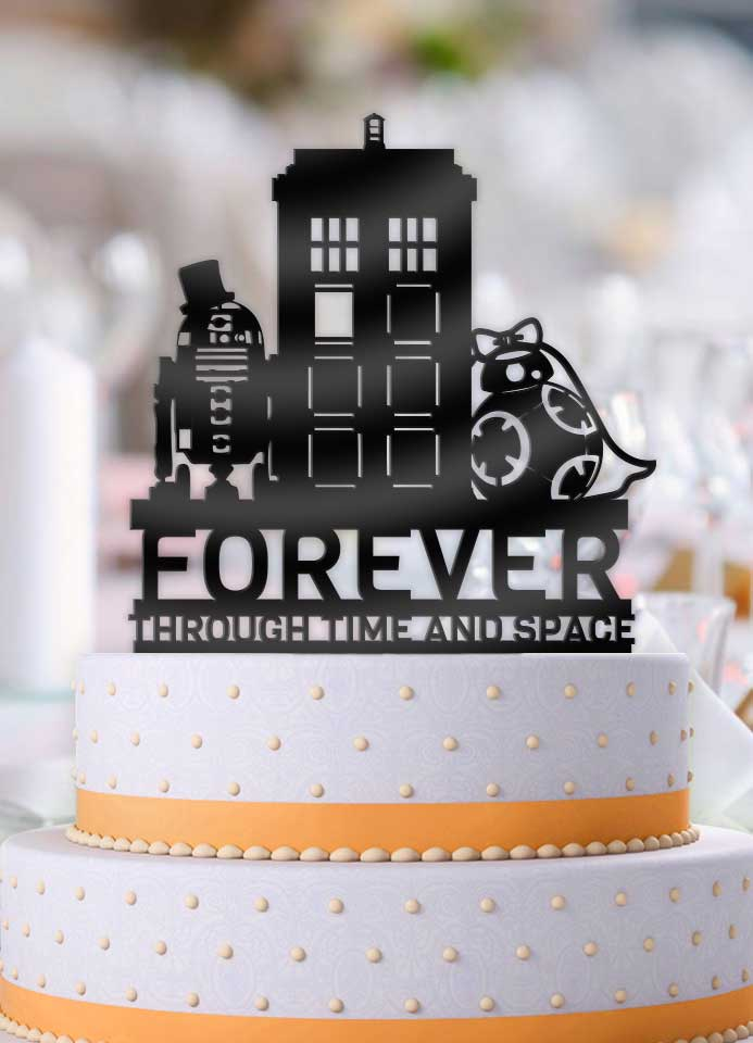 Star Wars BB8 R2D2 with Doctor Who Tardis Forever Though Time and