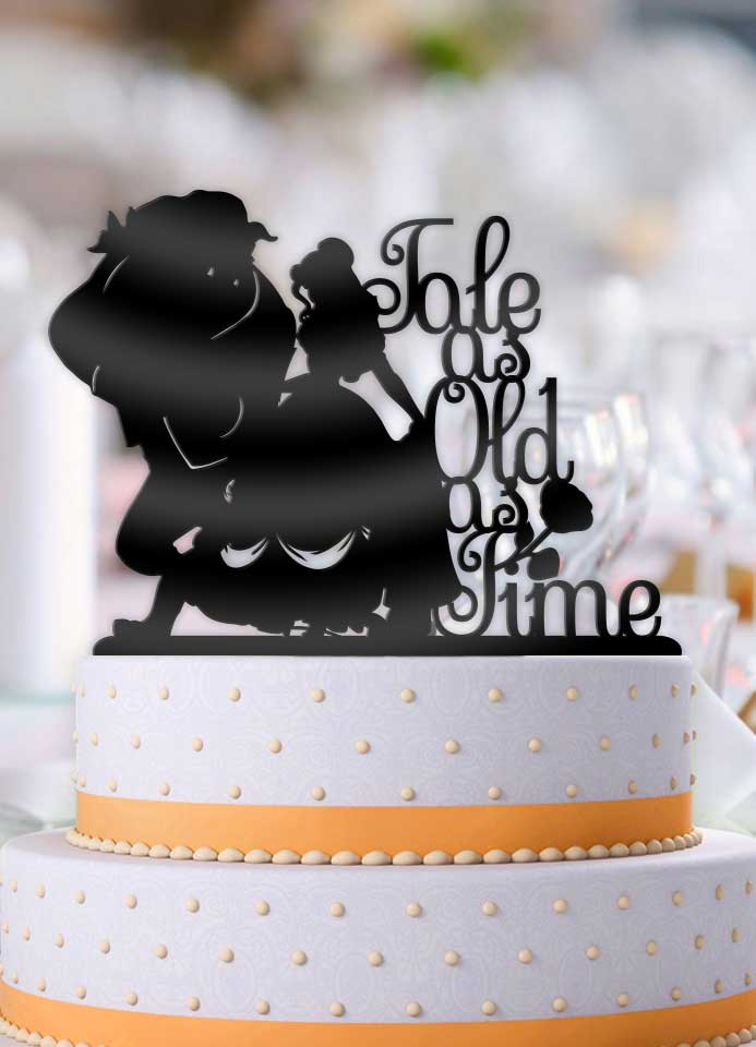 Beauty and the Beast Tale As Old As Time Wedding Cake Topper - Bee3dgifts