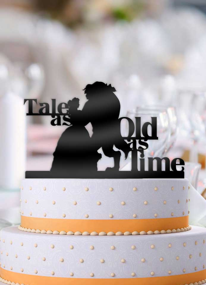 Beauty and the Beast Dance Tale As Old As Time Wedding Cake Topper