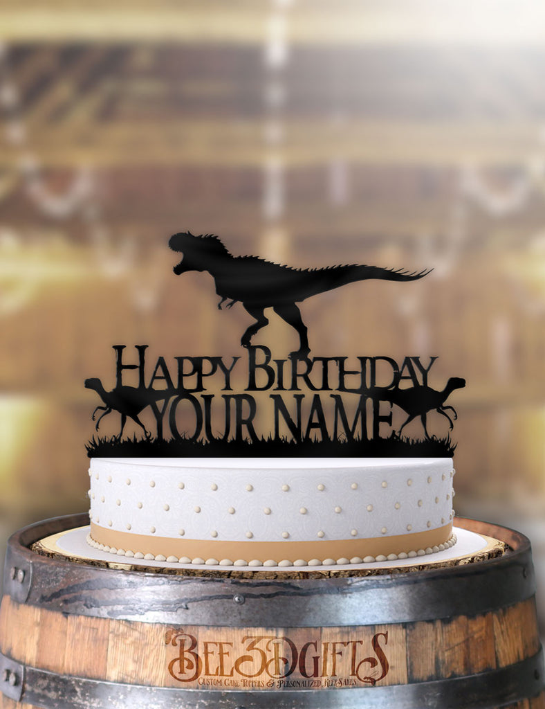 Pleasant Personalized Dinosaurs T Rex Birthday Cake Topper Personalised Birthday Cards Paralily Jamesorg