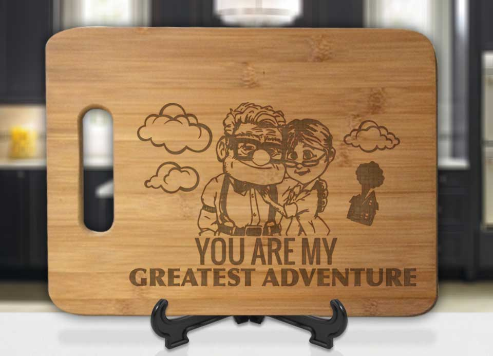 Carl and Ellie You Are My Greatest Adventure Engraved Cutting Board - Bee3dgifts
