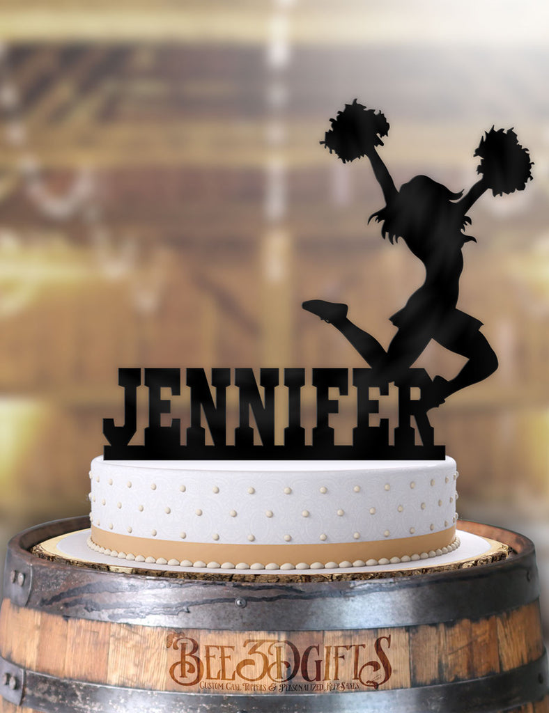 Terrific Personalized Female Cheerleader Birthday Cake Topper Funny Birthday Cards Online Fluifree Goldxyz