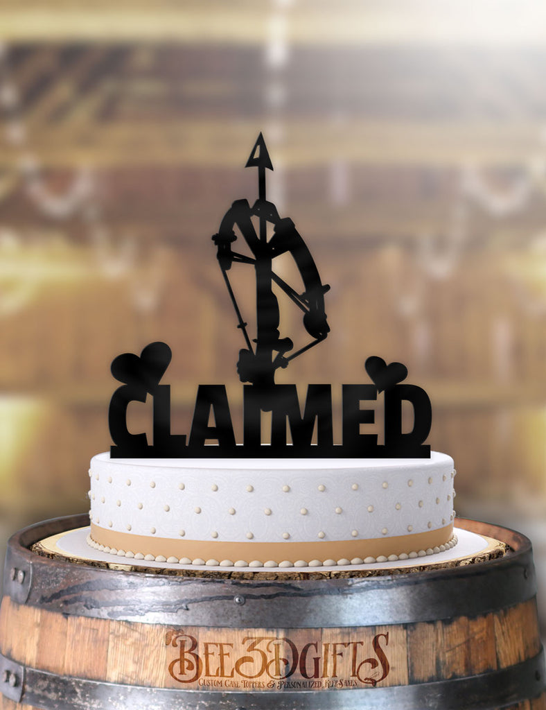 Crossbow Claimed Cake Topper - Bee3dgifts